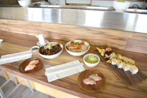 9th Street Rotary - Bruleedsalmon Nigiri, Kalbi there for you, Oh miso Honey, Tmon Tokyo, Bruleed Tuna Nigiri